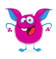 funny cartoon monster halloween vector image vector image
