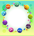 funny childish banner with cute colorful fluffy vector image vector image