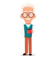 grandfather wearing eyeglasses vector image