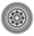 greek boho mandala design ancient round vector image
