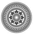 Greek boho mandala design ancient round