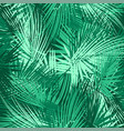 green palm tree branches on abstract background vector image