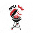 grill time hand drawn typography poster vector image vector image