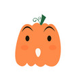halloween pumpkin icon vector image vector image