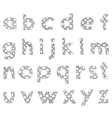 hand written checkered lower case alphabet vector image