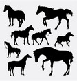 horse animal gesture silhouette vector image vector image