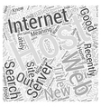 I was out a site Word Cloud Concept vector image vector image