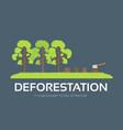 issue deforestation in flat design background vector image