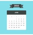 June 2016 Calendar vector image vector image