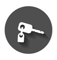 key icon key flat with long shadow vector image vector image