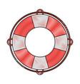 lifesaver boat symbol vector image vector image