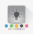 light bulb icon sign symbol app in gray square vector image vector image
