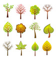 many trees on the white background vector image