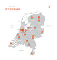netherlands map with administrative divisions vector image