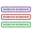 north europe watermark stamp vector image