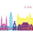 ottawa v2 skyline pop vector image vector image