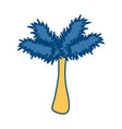 palm tree pop art cartoon vector image vector image