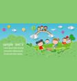 paper art of back to school kids school vector image vector image