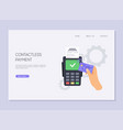 paying using contactless credit card and payment vector image