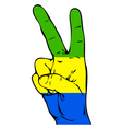 Peace Sign of the Flag of the Gabon vector image vector image