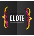 Pink and golden curly brackets with place for your vector image