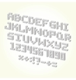 Pixel brick font isolated set vector image vector image