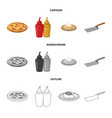 pizza and food icon vector image vector image