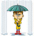 rainy day vector image
