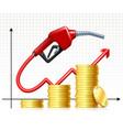 rising price gas fuel handle pump nozzle vector image