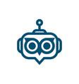 robot owl logo vector image