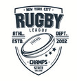 rugt-shirt print sport club emblem college vector image