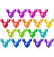 Set a festive bright balloons vector image vector image