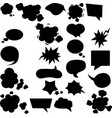 set different speech bubbles and elements vector image vector image