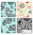 Set geometric pattern vector image