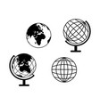 set globes icons world vector image vector image