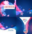 set of abstract background of american vector image