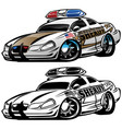 sheriff muscle car cartoon vector image vector image