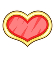 shield in the shape of heart icon cartoon style vector image vector image