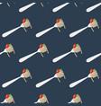 spaghetti seamless pattern vector image vector image