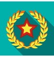 Star and ears of wheat icon in flat style vector image