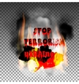 stop terrorism in the country of Ukraine and the vector image vector image