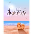 Summer beach travel vocation design Sun beach vector image vector image