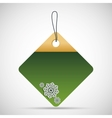 Tag with snowflake icon Merry Christmas design vector image