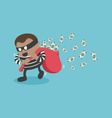 thieves stealing money vector image vector image