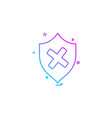 unprotected sheild icon design vector image