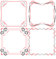 Vintage beautiful elegant frame Set of elements vector image vector image
