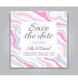 Wedding Save the Date card with ink marble vector image vector image