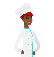 young african-american chef laughing vector image vector image