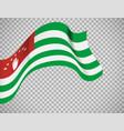 abkhazia flag on transparent background vector image