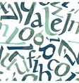 Seamless pattern with watercolor letters vector image